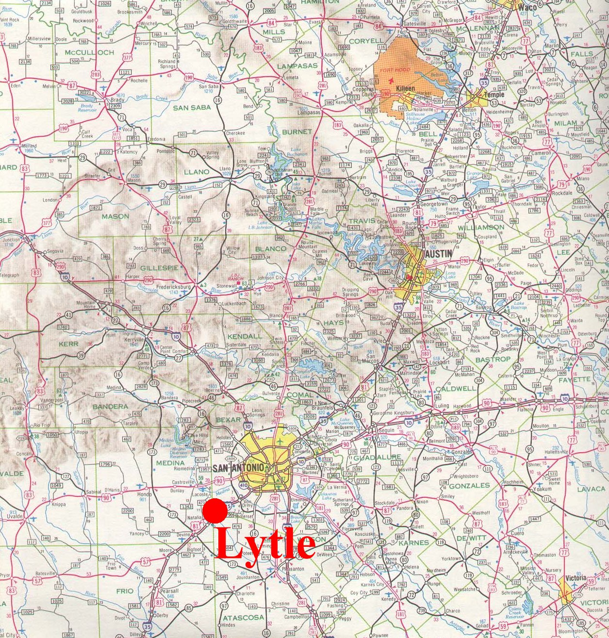 Lytle Texas Map Lytle Small Town Research Project