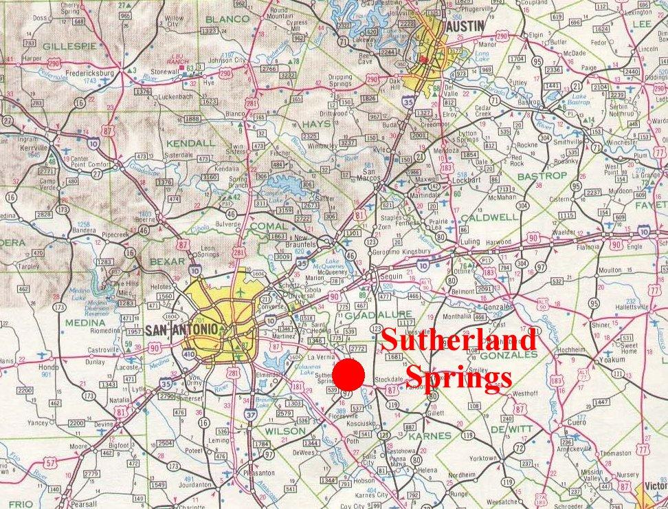 Sutherland Springs Texas Map Sutherland Springs