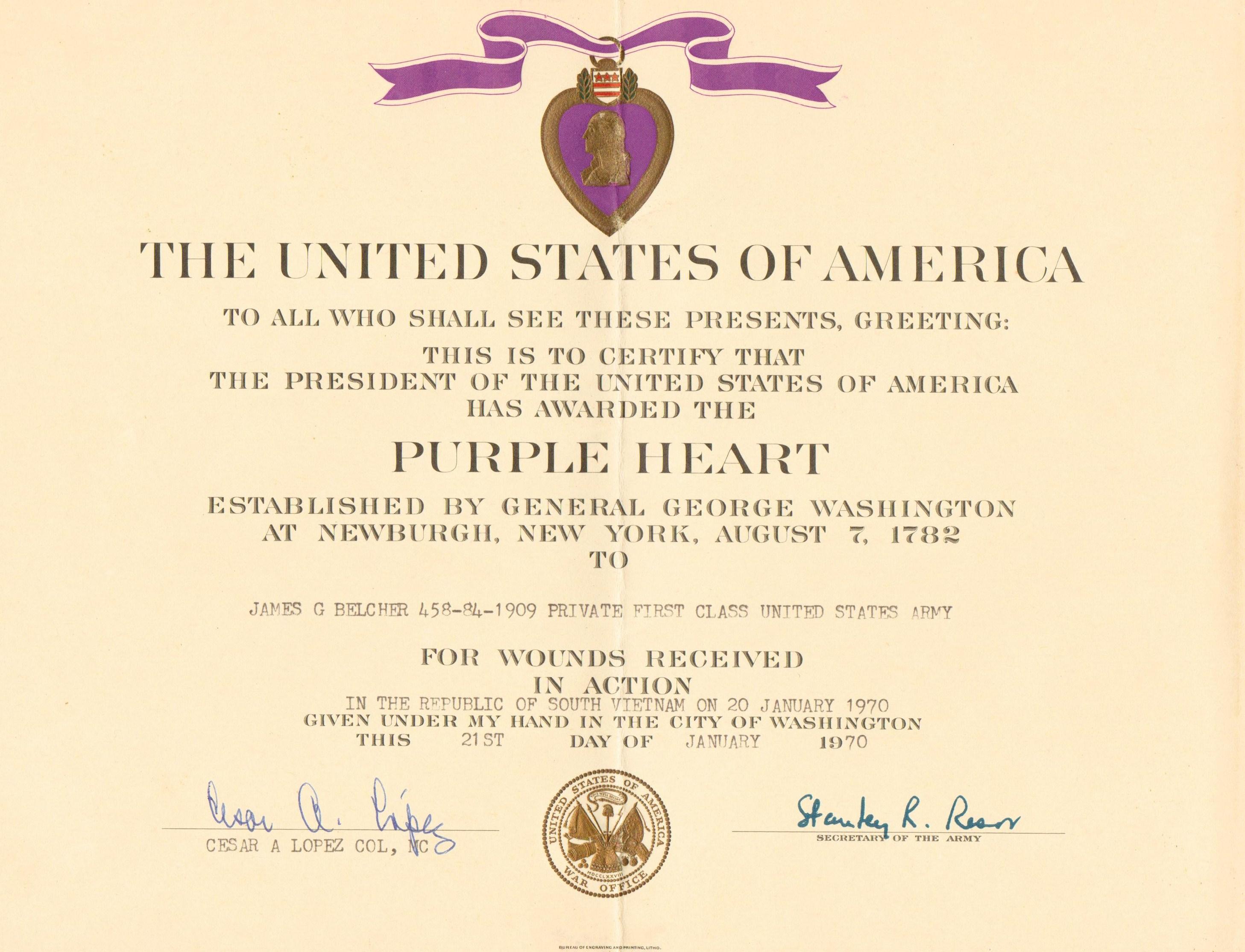 Top Result 60 Beautiful Purple Heart Citation Template Image 2017 ...